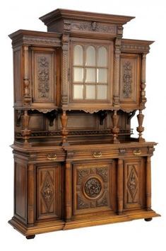 Lot: A RENAISSANCE REVIVAL WALNUT BUFFET A DEUX CORPS, Lot Number: 0071, Starting Bid: $500, Auctioneer: Morton Auctioneers , Auction: Antiques & Interiors Special Event, Date: August 14th, 2014 MDT
