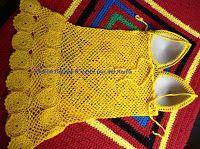 Tina's handicraft : Dress beach Crochet Bikini, Crochet Top, Crochet Books, Easy Knitting Patterns, Ribbon Design, Irish Lace, Beach Dresses, Dress Beach, Crochet For Kids
