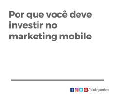 A importância do Marketing Mobile   A abordagem móvel de marketing de conteúdo está ganhando popularidade. O que é tão exclusivo sobre isso?   O que é Mobile Content Marketing Os consumidores estão usando seus dispositivos inteligentes para tudo, desde esportes até compras online. As marcas sentem a necessidade de projetar a experiência do produto para usuários mobile. Muitos estão adotando a abordagem de marketing de conteúdo móvel. Esta abordagem coloca o celular no leme e o considera mais…