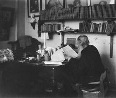 Leo Tolstoy (1828 – 1910) is working in his study in Yasnaya Polyana estate. #Leo_Tolstoy