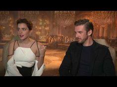 Emma Watson & Dan Stevens raw interview Beauty and the Beast