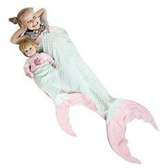 Kids' Blankets - PoshPeanut Mermaid Blanket Softest Minky Comfy Cozy Blankie for Kids Ages Between 313 with Free Toy Doll Blanket Included Aqua and Pink * Read more at the image link.