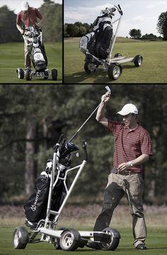 Scooter golf cart, why not! Golf Aids, Florida Golf Courses, Golf Gadgets, Electric Golf Cart, Custom Golf Carts, Golf Drivers, Golf Channel, Golf Training, Golf Irons