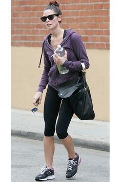 A trim Ashley Greene is snapped leaving the gym in Studio City, CA on April 24, 2012.