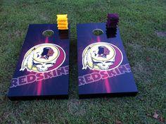 Redskins CornHole boards