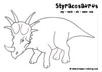 Styracosaurus Dinosaurs Silhouettes Vectors Clipart Svg