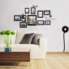 10Pcs Photo Frame DIY Set Vinyl Decal Decor Home Art Wall Sticker