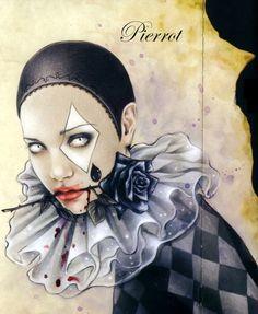 Victoria Frances be Pub Vintage, Vintage Circus, Circus Art, Circus Theme, Pierrot Clown, Luis Royo, France Art, Vampire Art, Night Circus