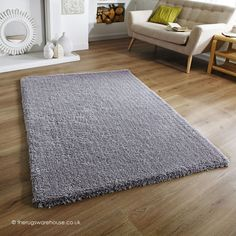Softness Grey Rug, a plain shaggy rug made using a plush microfiber polyester yarn http://www.therugswarehouse.co.uk/shaggy-rugs/softness-rugs/softness-grey-rug.html
