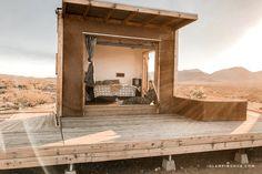 Secluded Glamping Eco-Pod Rental in the Mojave Desert near Ridgecrest, California Eco Cabin, Tiny House Cabin, Cabin Design, House Design, Glamping California, Eco Pods, Camping Pod, Desert Resort, Cabins