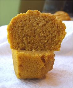 gluten-free, egg-free pumpkin cornbread muffins - these are GREAT! Used Bob's Red Mill mix instead (12 oz) and used 1 T of honey and 2 of maple syrup