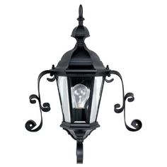 Capital Lighting 9727BK Carriage House Outdoor Sconce