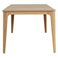Buy Ebbe Gehl for John Lewis Mira 6 Seater Dining Table, Oak from our Dining Tables range at John Lewis & Partners. Welded Furniture, Modern Wood Furniture, Dining Furniture, Furniture Design, Wooden Dining Table Designs, Wooden Dining Tables, Dining Room Table, Kitchen Tables, 6 Seater Dining Table