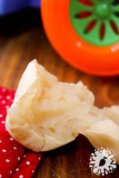 Pão de Batata Doce e Polvilho - Para o café da manhã do bebê! #comidadebebê #receita #introduçãoalimentar #pão