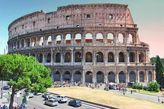 Colosseum,+Rome+-+A+triumph+of+Roman+architecture.+Housed+up+to+50,000+spectators+watching+gladiators+try+to+kill+each+other
