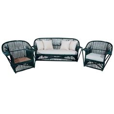 ? screened porch Stick Wicker Set | From a unique collection of antique and modern living room sets at http://www.1stdibs.com/furniture/seating/living-room-sets/