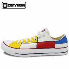 dd440521aa6af Low Top All Star Converse Shoes Mondrian Custom Design Hand Painted Shoes  Men Women Sneakers Classic Gifts