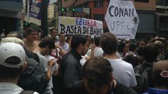 #15M Estudiantes protestan en varios puntos del país por el asesinato de #ConanQuintana