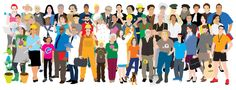 """Illustration: """"People in business outfits"""". Client: Asinno.de Date: July 2015"""