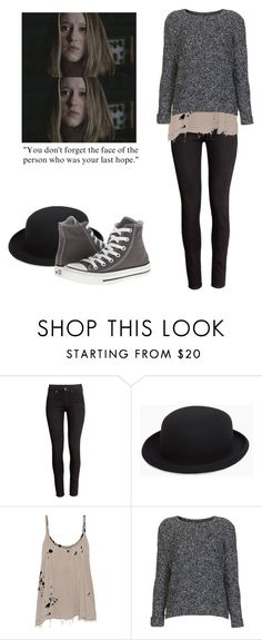 """""""Violet Harmon - ahs / american horror story"""" by shadyannon ❤ liked on Polyvore featuring H&M, Comme des Garçons, Raquel Allegra, Topshop and Converse"""