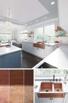 The variation of these copper tones will turn each sink into a unique masterpiece.