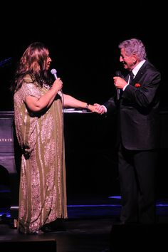 Tony Bennett and Aretha Franklin in 2011