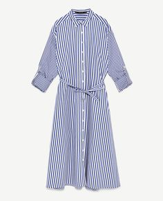 Image 8 of CONTRASTING STRIPED DRESS from Zara