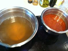 Fish Soup: Stock & Tomato Sauce