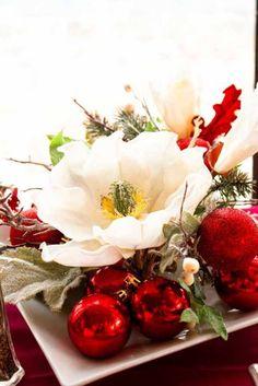 FOTOS de CENTROS DE MESA NAVIDEÑOS fáciles y caseros 2016. CENTROS DE MESA de NAVIDAD sencillos y económicos con velas para decorar la mesa en Navidad
