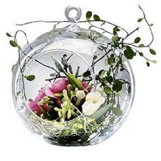 Sandra Rich Vase Ball ø 15 cm Rund Kugel Glas Vase, zum Aufhängen