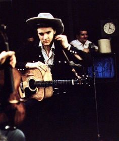 Elvis in rehearsals for the 'Steve Allen Show' July 1, 1956