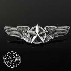 Steampunk Weapons, Steampunk Cosplay, Pilot Tattoo, Military Insignia, Metal Buttons, Paragliding, The Help, Wings, Geek Stuff