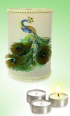 Peacock Tea Light @ allMemoirs
