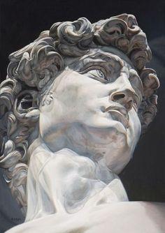 super ideas for painting portrait pencil fine art Roman Sculpture, Art Sculpture, Portrait Sculpture, Michelangelo Sculpture, Animal Sculptures, Art Sketches, Art Drawings, Rose Drawings, Drawing Art