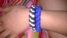Handmade blue-white-black bracelet