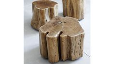 Hewn from acacia trunks selected for their intriguing shapes, Teton is ruggedly rustic, naturally sophisticated and utterly unique. Hand finished to a smooth surface, each cross section displays beautiful grain and rich surface detail. Heavy-duty casters tucked underneath make it easy to roll the table where it's needed, as a footrest, extra seat or side table. As a natural wood product, the trunk will vary in size and shape, exhibiting superficial splits, knots or fissures. The Teton Accent…