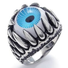 KONOV Jewelry Stainless Steel Dragon Claw Devil Eye Men's Ring, Color Blue&Silver (with Gift Bag) http://www.skullclothing.net/?product=konov-jewelry-stainless-steel-gothic-dragon-claw-devil-eye-biker-mens-ring-color-blue-silver-available-in-size-7-8-9-10-11-12-13-14-15-with-gift-bag