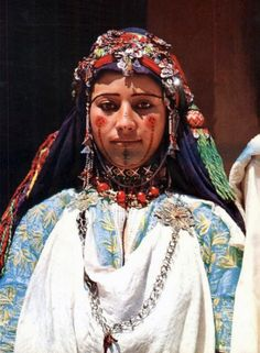 Africa | Girl from the High Atlas region.  Morocco || Scanned postcard; publisher ITTAH