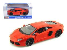 Lamborghini Aventador LP700-4 Orange 1/24 Diecast Model Car by Maisto