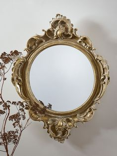 Baroque inspired with a soft antiqued finish, our opulent gold Louis Mirror exudes character and style. The intricate and ornate molded detail and soft whitewash finish on our mirror adds a touch of faded elegance to your space. Cox And Cox, Grey Walls, Home Decor Accessories, Furniture Making, Flower Arrangements, Carving, Mirror Mirror, Wall Mirrors, House Styles