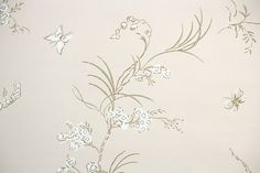 1960s Vintage Wallpaper by the Yard  White by HannahsTreasures