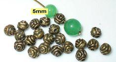 100 Rund Tube Zwischenperle 6 mm Daisy Spacer silber Metallperle B34