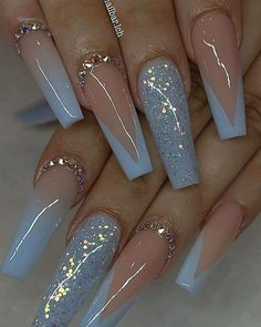 French Tip Acrylic Nails, Acrylic Nails Coffin Pink, Long Square Acrylic Nails, Simple Acrylic Nails, Coffin Shape Nails, Acrylic Nail Designs, Dope Nail Designs, Marble Nails, Stylish Nails
