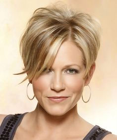 short wispy hairstyles for women | Casual Short Straight Hairstyle - Medium Blonde Layered - 14057 ...