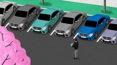 Editorial GIF I've made with Realgestalt for Mercedes-Benz Next. Art direction by the super talented Dave Hänggi.
