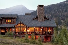 House in the mountains. I always enjoy large windows in architecture!