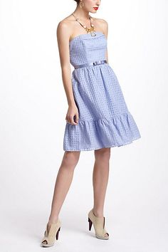 Catharina Dress #anthropologie--so cute for the sorority event...add a little edge with -yes--a leather jacket, or softer look w/ cardigan over dress, belted on outside...