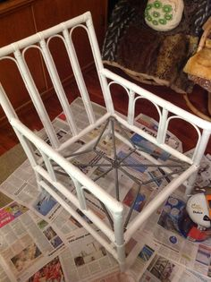 Upcycled Cane Chair