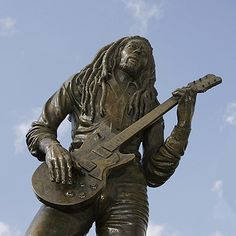 My Grandfather's statue!!!!!!!!!!!!!!!!!!!!!!!!!!!Bob Marley statue outside the National Stadium in Kingston, Jamaica.