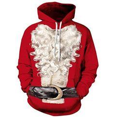 a99fd2762fd7c ISSHE Pull de Noel Homme Sweat a Capuche Pulls Moche de Noël Lumineux Drole Sweat  Shirt